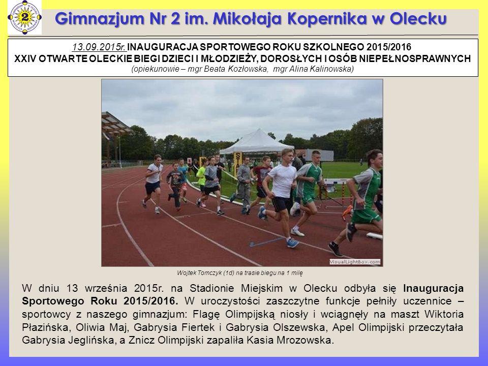 Gimnazjum Nr 2 im. Mikołaja Kopernika w Olecku 13.09.2015r.