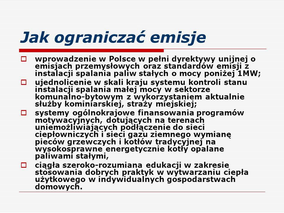 Jak ograniczać emisje  wprowadzenie w Polsce w pełni dyrektywy unijnej o emisjach przemysłowych oraz standardów emisji z instalacji spalania paliw st