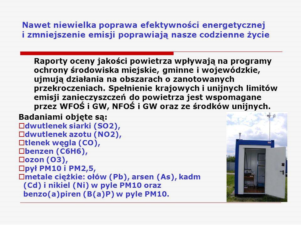 Oszczędzaj energię Mniej energii na realizację określonego zadania, to mniejsza energia pierwotna, czyli lepsza efektywność energetyczna i mniej emisji Energia pierwotna tzn energia zawarta w węglu, ropie, gazie, biomasie, energia słoneczna, wiatrowa Energia końcowa tzn energia elektryczna energia cieplna energia kinetyczna