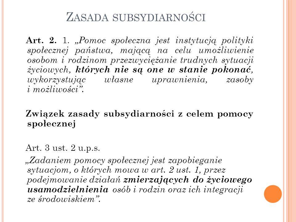 Z ASADA SUBSYDIARNOŚCI Art.2. 1.