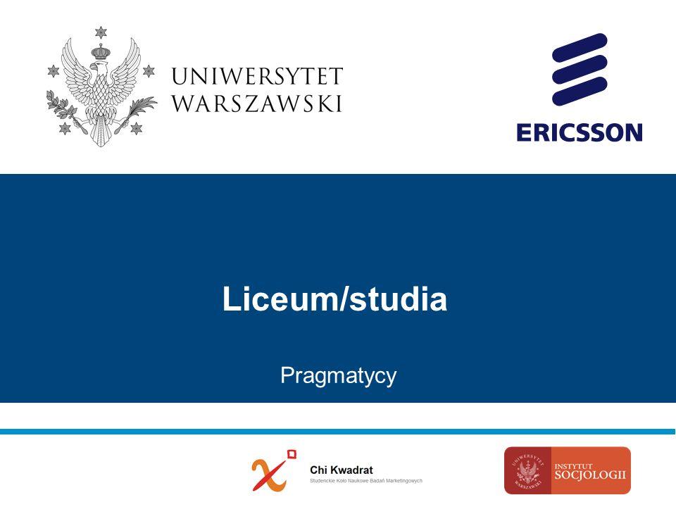 Liceum/studia Pragmatycy