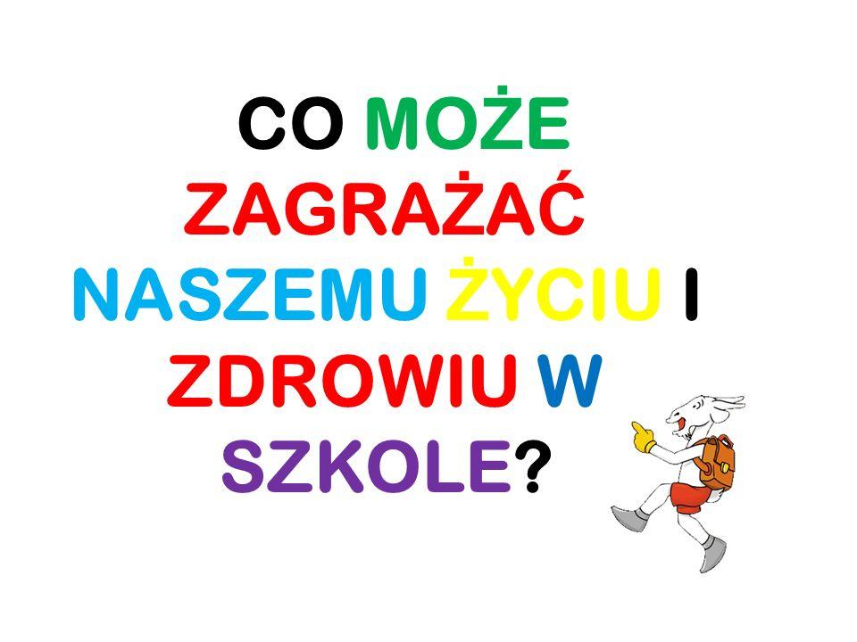 CO MO Ż E ZAGRA Ż A Ć NASZEMU Ż YCIU I ZDROWIU W SZKOLE?