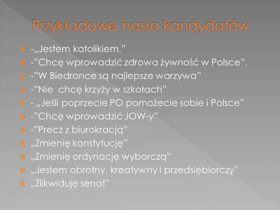 """ -""""Jestem katolikiem.  - Chcę wprowadzić zdrowa żywność w Polsce ."""