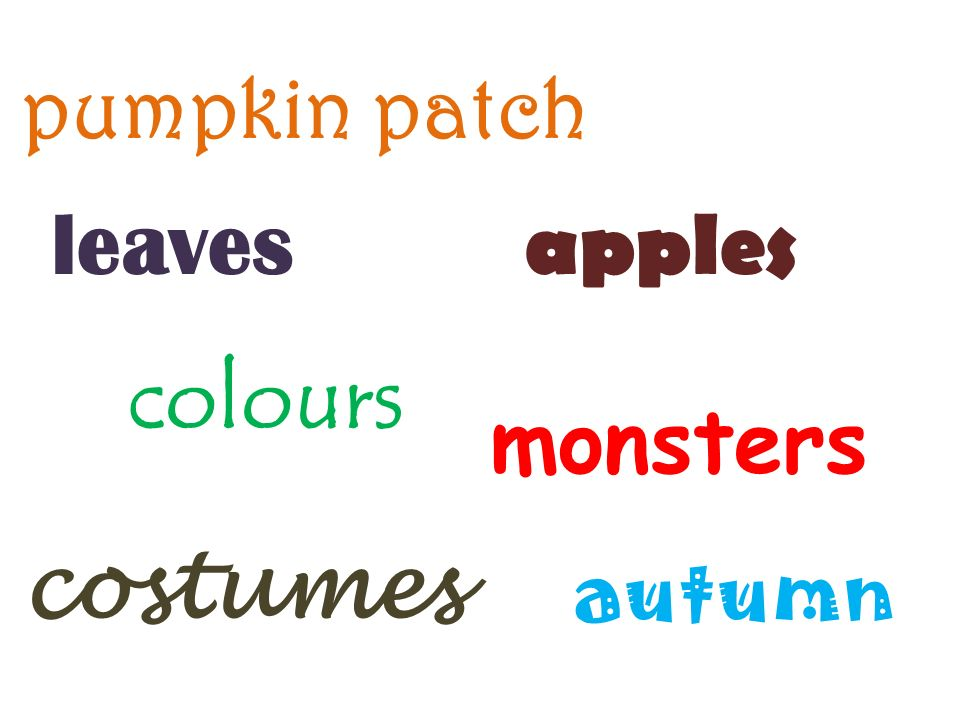 leaves colours monsters apples autumn pumpkin patch costumes