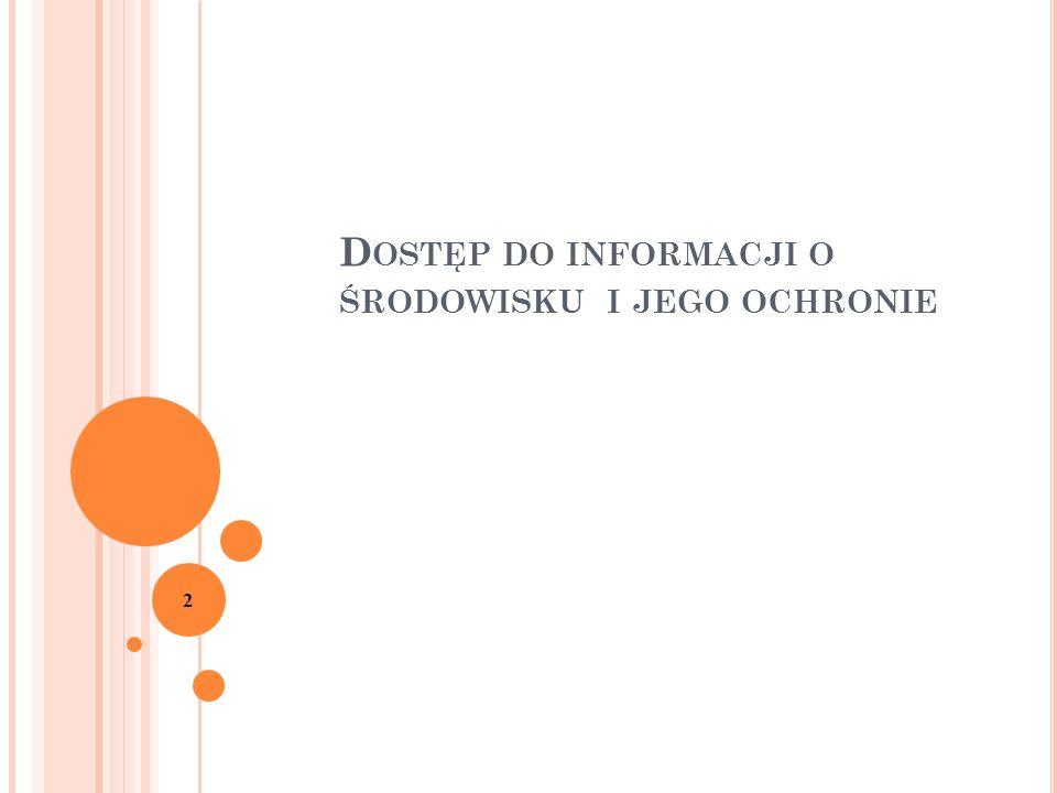 K OLIZJA : 23 większość informacji o środowisku stanowi jednocześnie informacje publiczne Jaki tryb udostępniania wybrać?