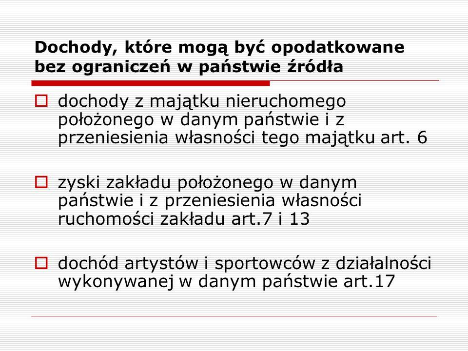 Przykład  Pani Grażyna Kowalska mieszka w Wielkiej Brytanii (jest rezydentem brytyjskim), w Polsce uzyskuje przychody z tytułu nieruchomości.