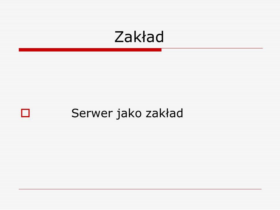 Zakład  Serwer jako zakład