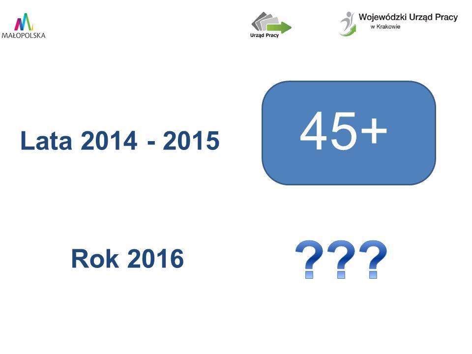 45+ Lata 2014 - 2015 Rok 2016