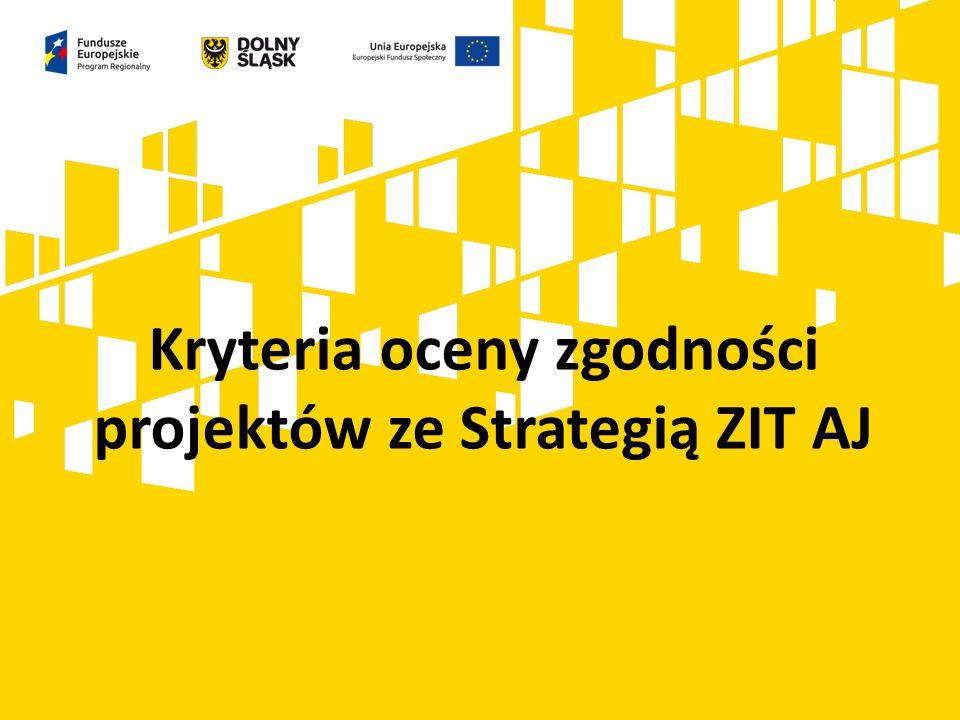 Kryteria oceny zgodności projektów ze Strategią ZIT AJ