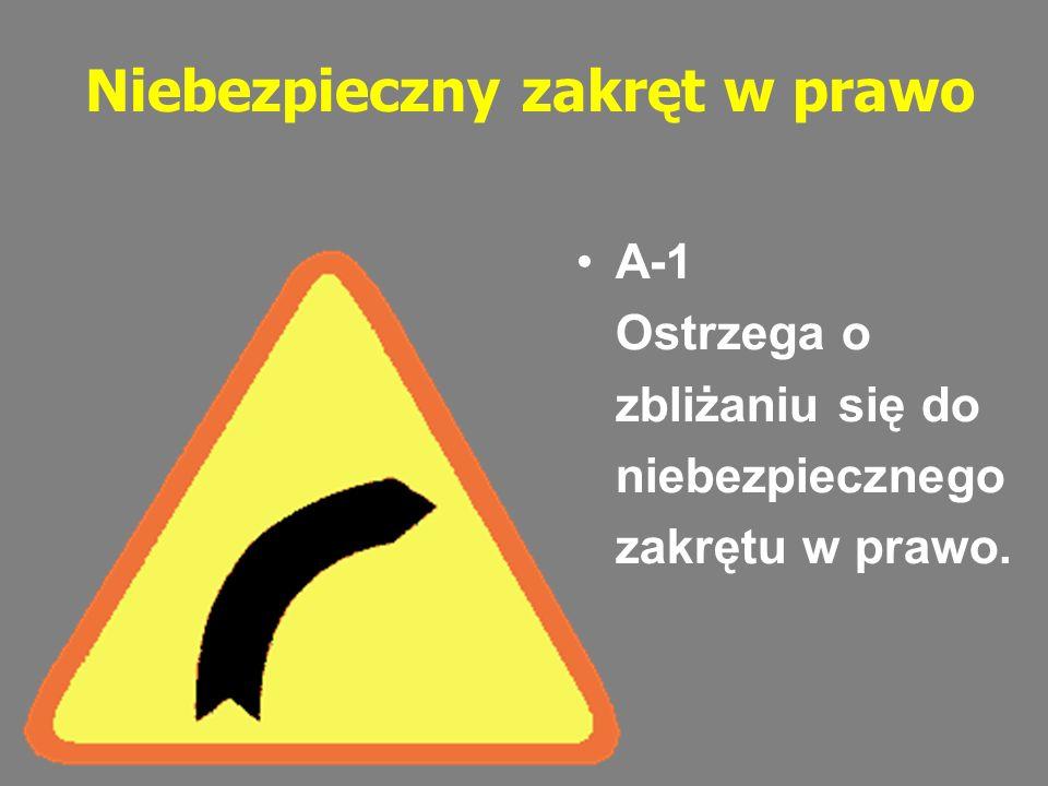 Ustąp pierwszeństwa przejazdu Znak ten ostrzega o zbliżaniu się do skrzyżowania, na którym z drogą z pierwszeństwem przejazdu krzyżuje się lub łączy droga podporządkowana.