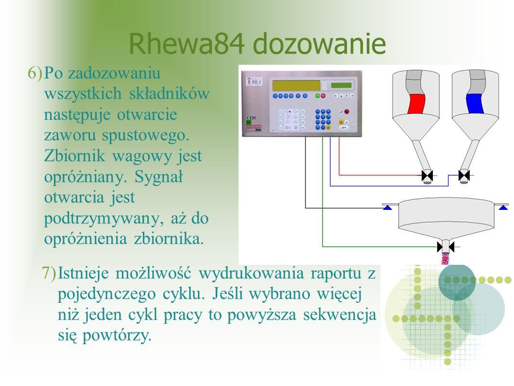 Rhewa84 dozowanie 6)Po zadozowaniu wszystkich składników następuje otwarcie zaworu spustowego.