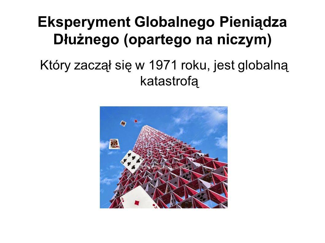 Eksperyment Globalnego Pieniądza Dłużnego (opartego na niczym) Który zaczął się w 1971 roku, jest globalną katastrofą