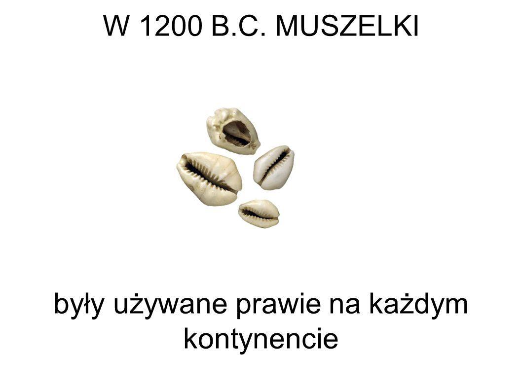 W 1200 B.C. MUSZELKI były używane prawie na każdym kontynencie