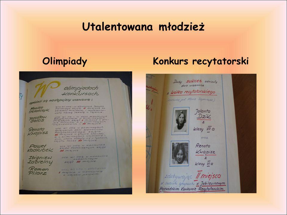 Utalentowana młodzież Olimpiady Konkurs recytatorski
