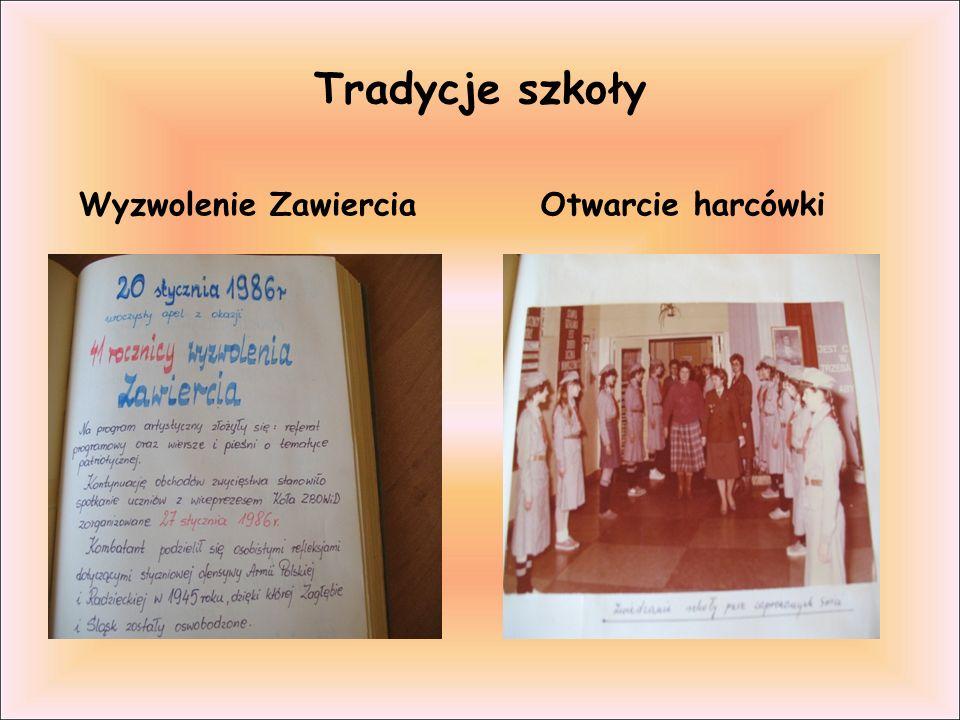 Tradycje szkoły Wyzwolenie Zawiercia Otwarcie harcówki
