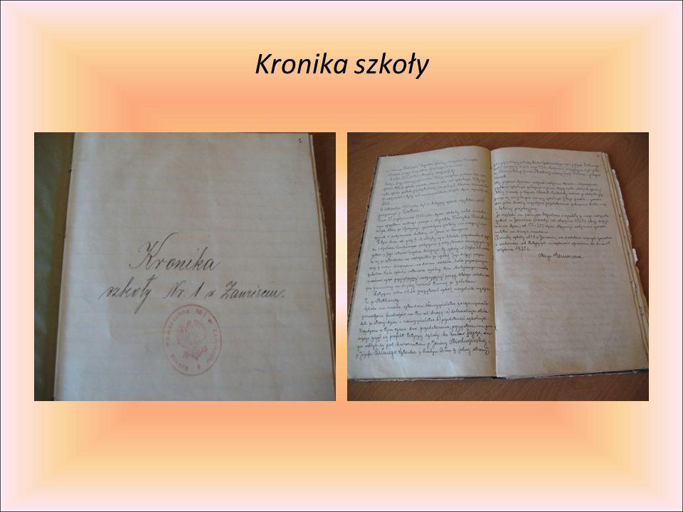 Kronika szkoły