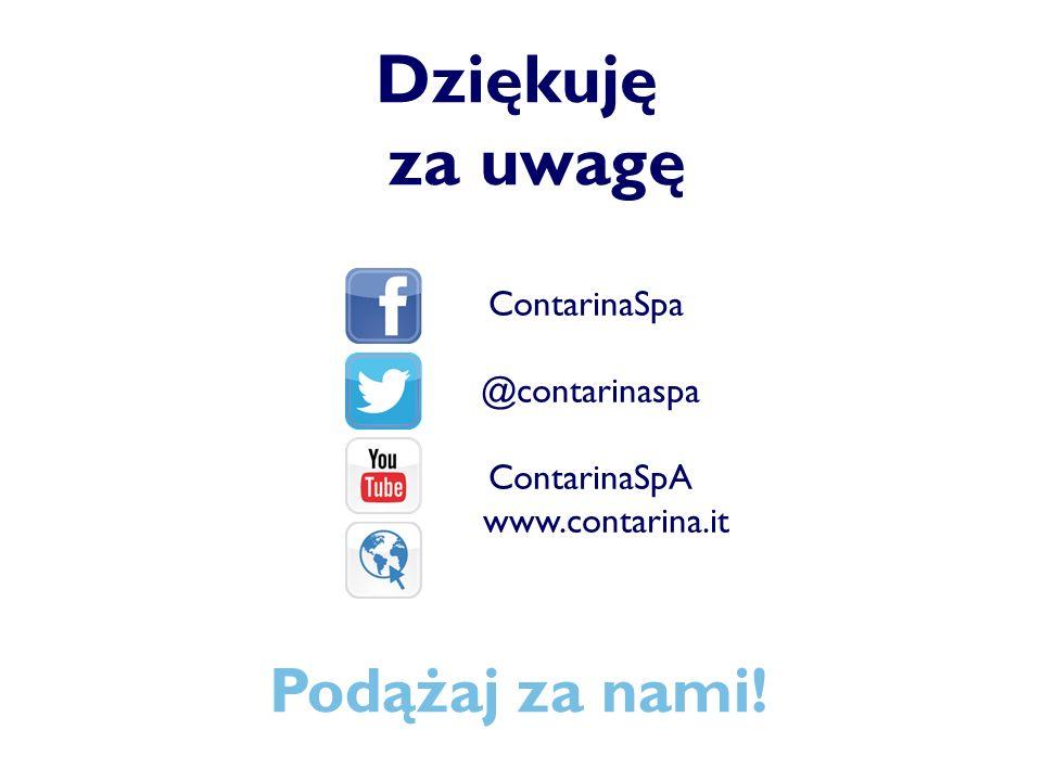Dziękuję za uwagę ContarinaSpa @contarinaspa ContarinaSpA www.contarina.it Podążaj za nami!