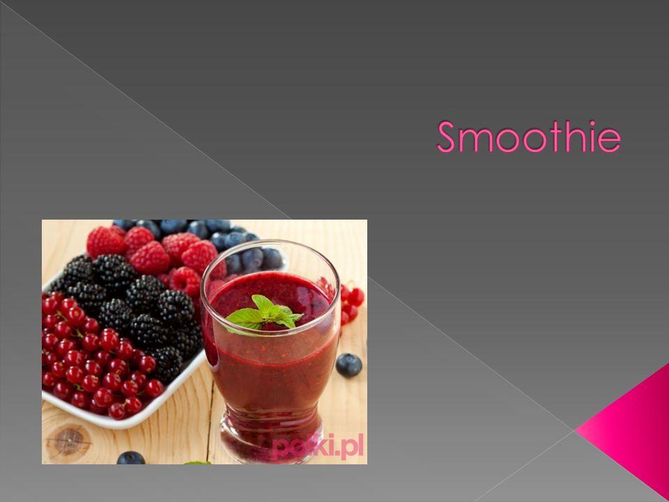  Zmiksowany i schłodzony napój na bazie owoców, o gęstej i kremowej konsystencji.