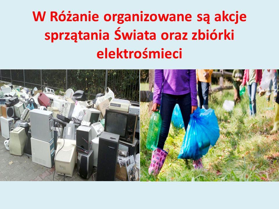 W Różanie organizowane są akcje sprzątania Świata oraz zbiórki elektrośmieci