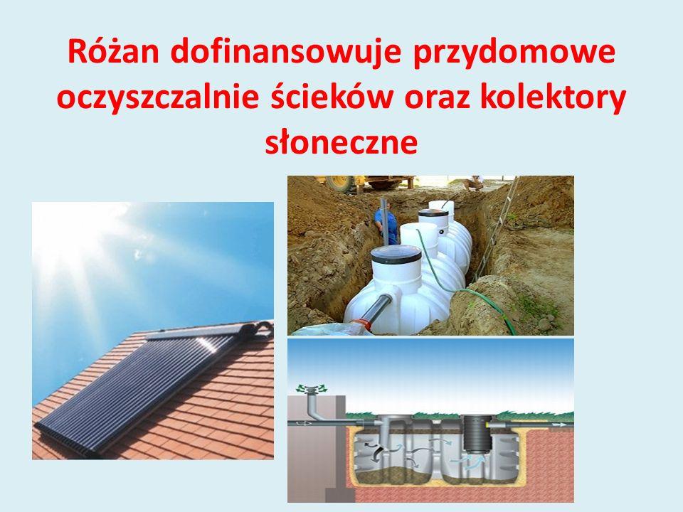 Różan dofinansowuje przydomowe oczyszczalnie ścieków oraz kolektory słoneczne