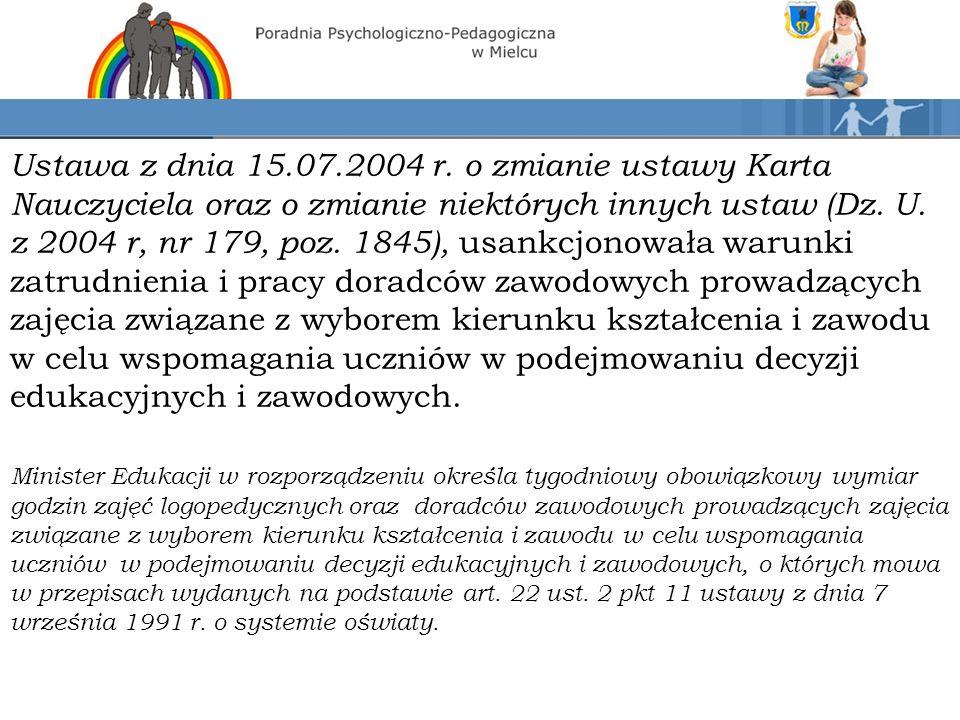 Ustawa z dnia 15.07.2004 r.