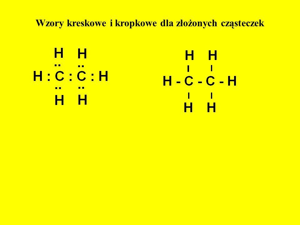 Wzory kreskowe i kropkowe dla złożonych cząsteczek