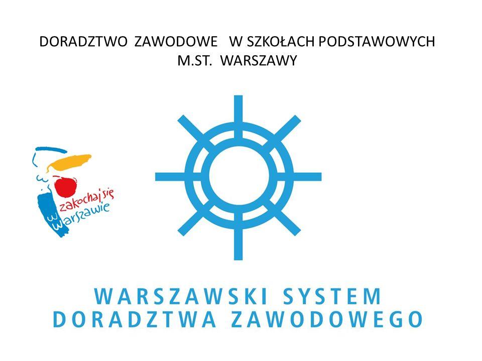 DORADZTWO ZAWODOWE W SZKOŁACH PODSTAWOWYCH M.ST. WARSZAWY