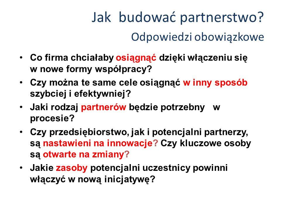 Jak budować partnerstwo.