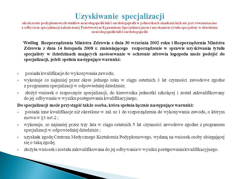 Według Rozporządzenia Ministra Zdrowia z dnia 30 września 2002 roku i Rozporządzenia Ministra Zdrowia z dnia 14 listopada 2008 r. zmieniającego rozpor