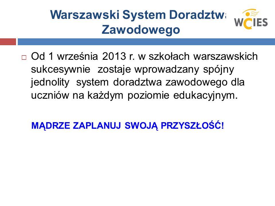 Warszawski System Doradztwa Zawodowego  Od 1 września 2013 r.