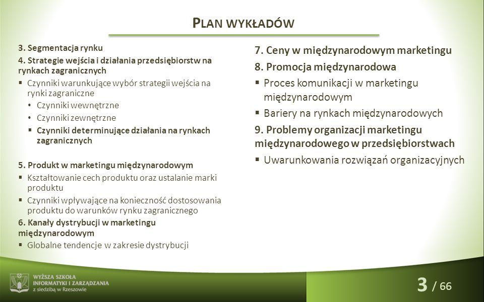 Anna Nowakowska P RZESŁANKI POWSTANIA MARKETINGU MIĘDZYNARODOWEGO 1