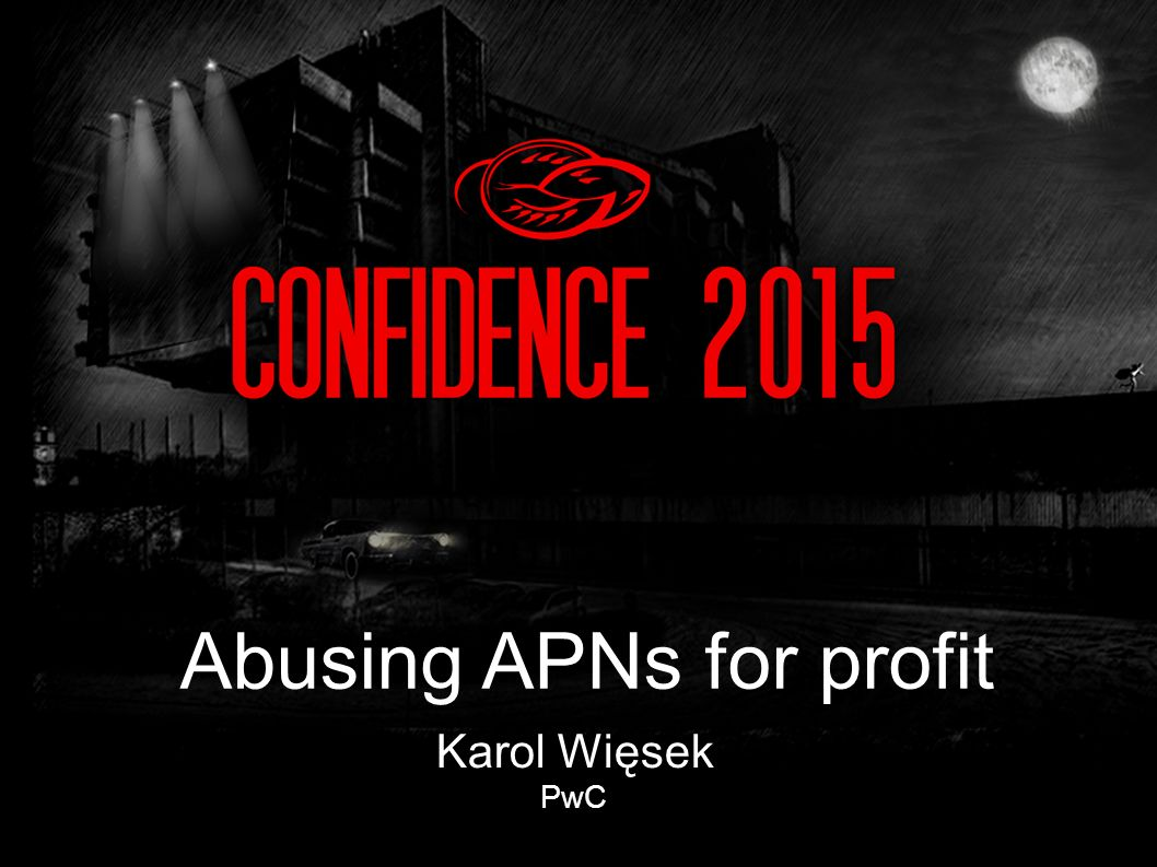 Karol Więsek PwC Abusing APNs for profit