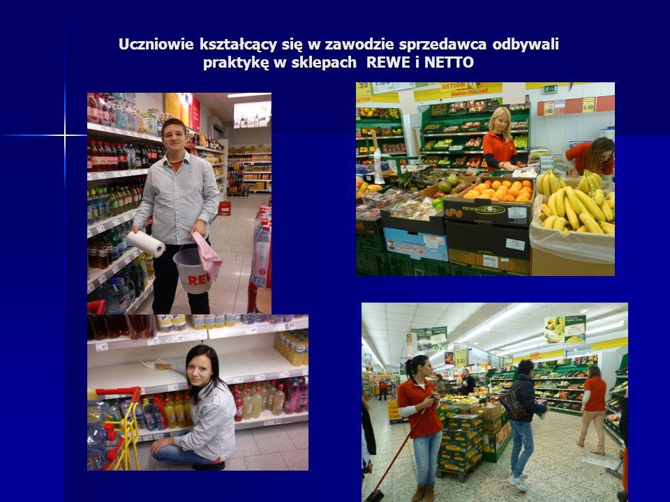 Uczniowie kształcący się w zawodzie sprzedawca odbywali praktykę w sklepach REWE i NETTO