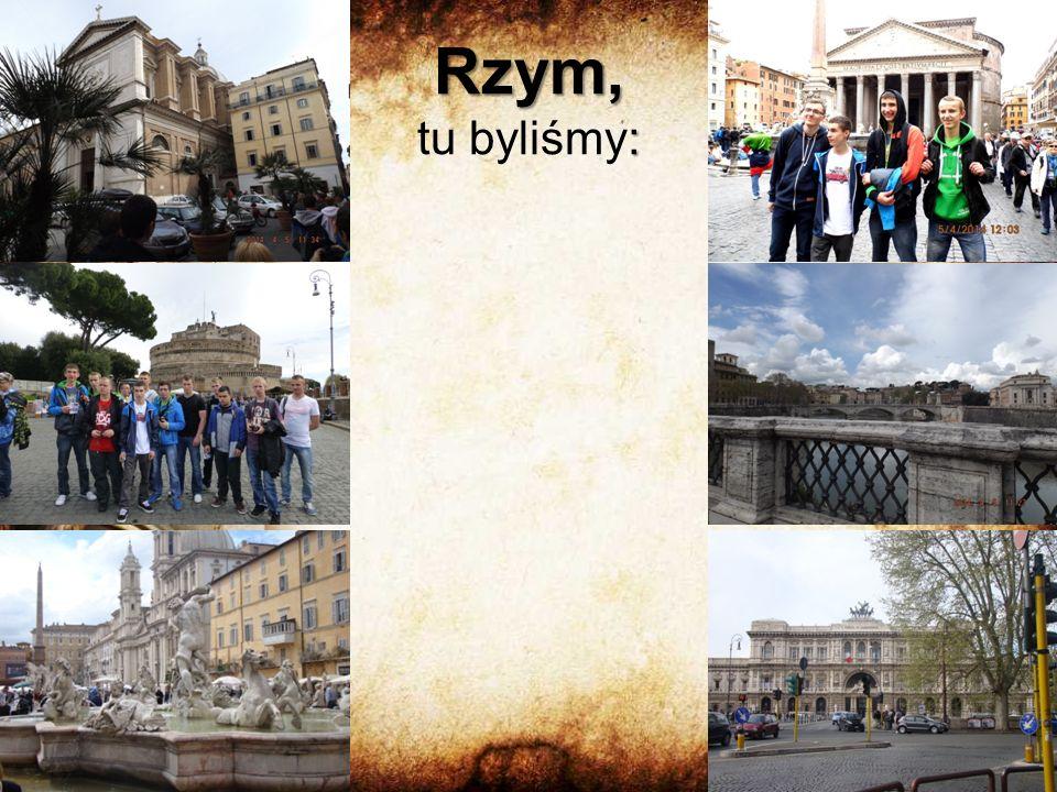 Rzym, : Rzym, tu byliśmy: Zamek Świętego Anioła Plac Navona, Fontanna Czterech Rzek w tle kościół św.