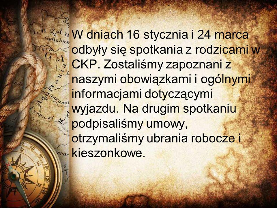 W dniach 16 stycznia i 24 marca odbyły się spotkania z rodzicami w CKP.