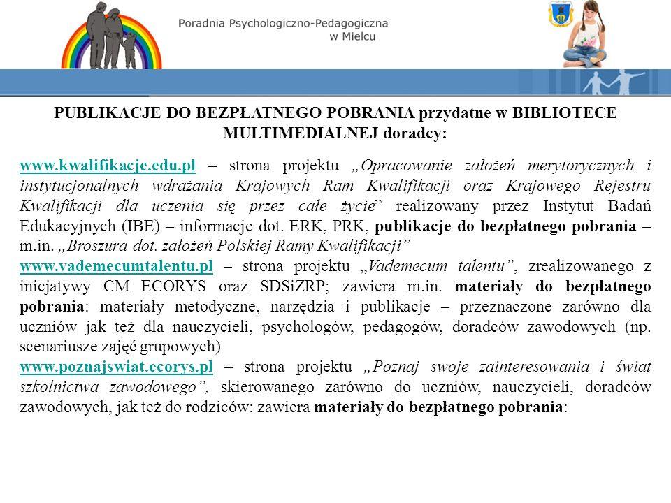 MULTIMEDIA Wytwórnia Filmów Szkoleniowych Synergia, Gdańsk, www.synergia.comwww.synergia.com Kalejdoskop zawodów : USŁUGI I TURYSTYKA SŁUŻBA ZDROWIA ZARZĄDZANIE I FINANSE PRAWO I ADMINISTRACJA NAUKA I EDUKACJA BEZPIECZEŃSTWO I OCHRONA PRZEMYSŁ I BUDOWNICTWO KOMPUTERY I ELEKTRONIKA ROLNICTWO I ŚRODOWISKO KREACJA Planowanie kariery, czyli jak wybrać zawód ABC przedsiębiorczości Jak radzić sobie z agresją uczniów Zawód przyszłości – gdzie szukać, jak zdobyć Rozpoczynam działalność gospodarczą