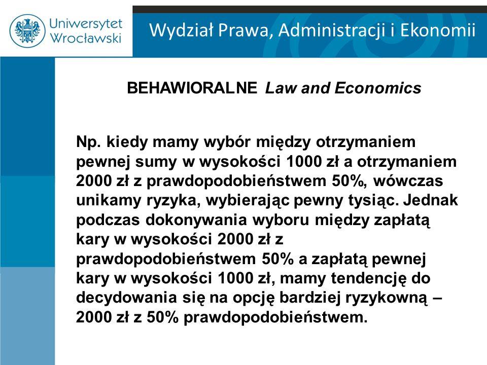 Wydział Prawa, Administracji i Ekonomii Np.