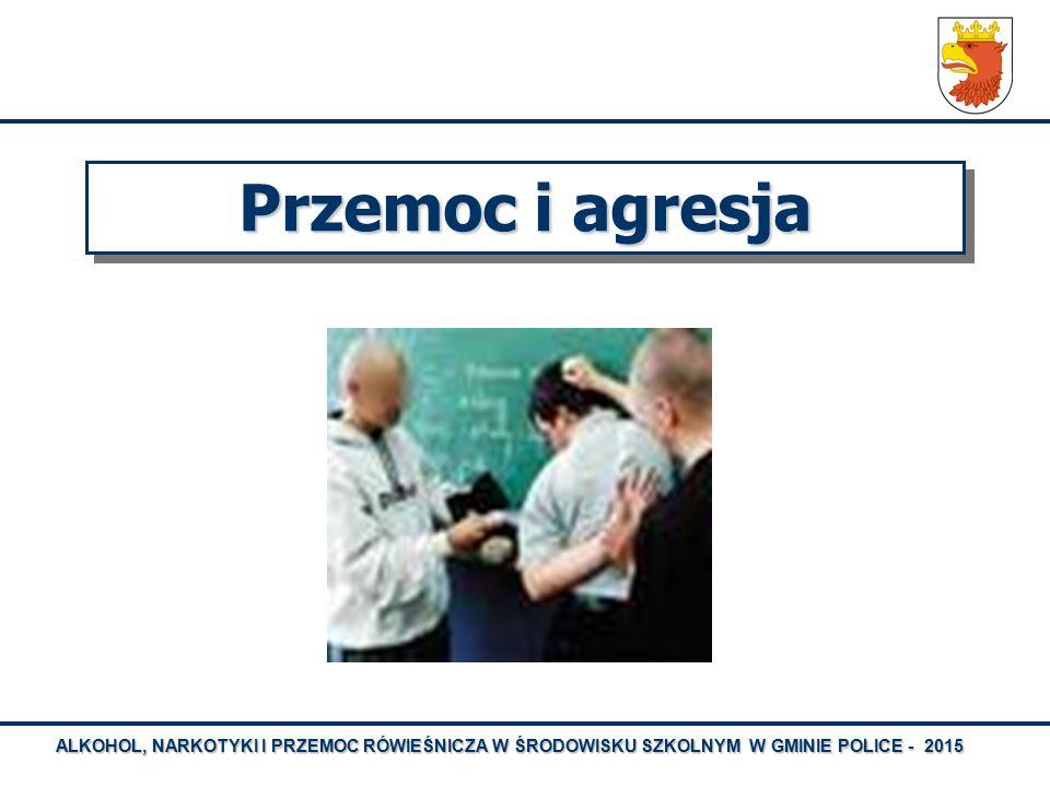 ALKOHOL, NARKOTYKI I PRZEMOC RÓWIEŚNICZA W ŚRODOWISKU SZKOLNYM W GMINIE POLICE - 2015 Przemoc i agresja
