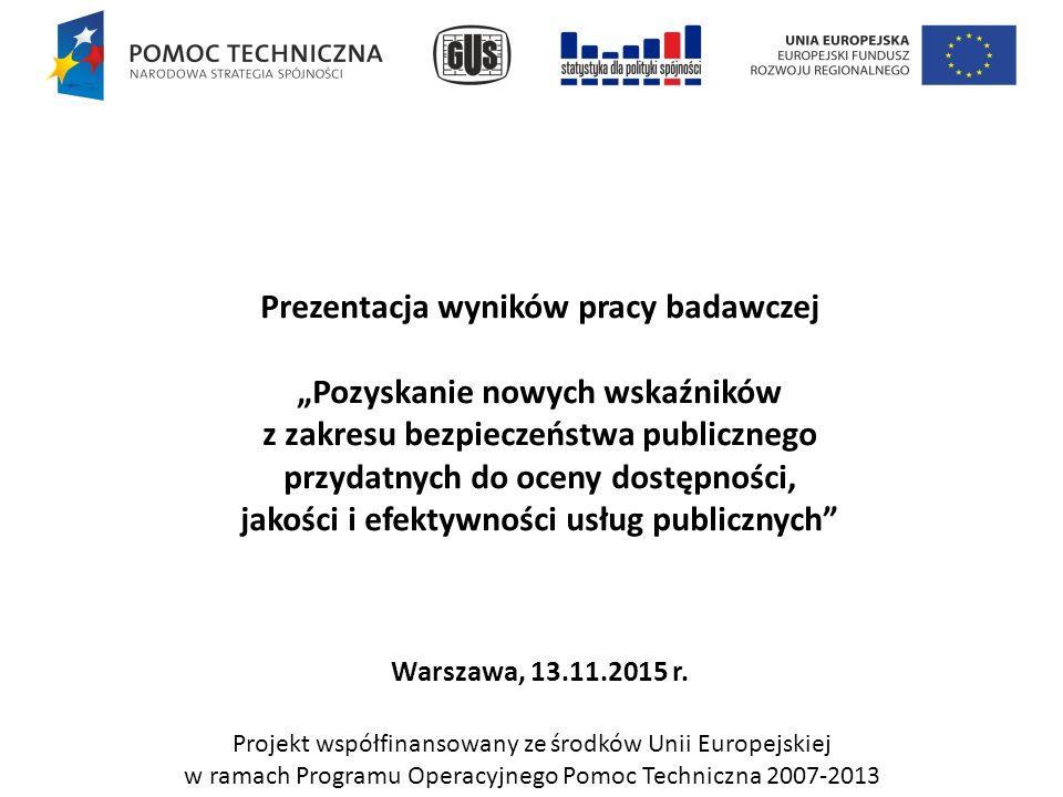 2.Wyniki i rekomendacje (Zarządzanie kryzysowe) Zestawienie wskaźników: L.p.Nazwa wskaźnika 6.
