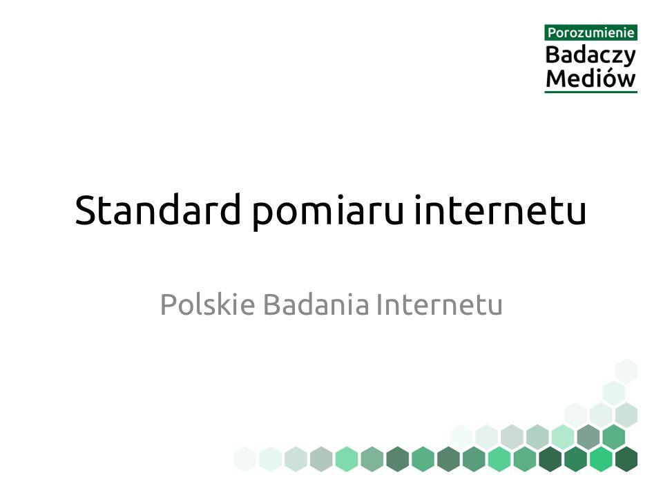 Standard pomiaru internetu Polskie Badania Internetu