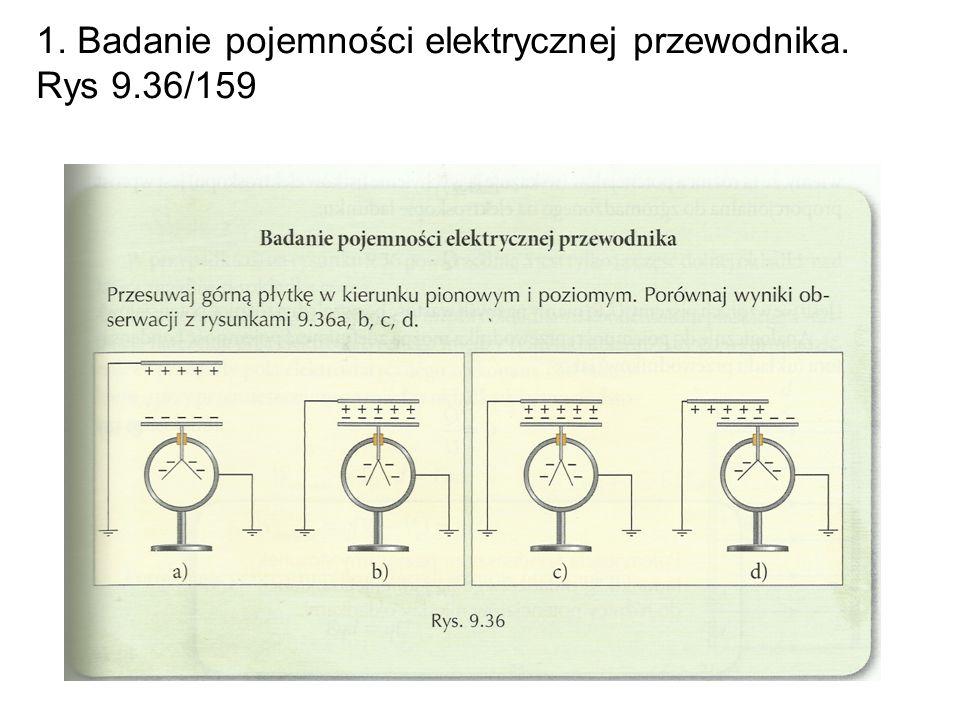 1. Badanie pojemności elektrycznej przewodnika. Rys 9.36/159