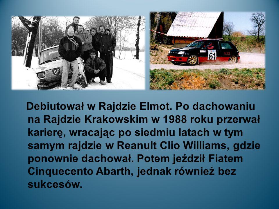 Debiutował w Rajdzie Elmot.