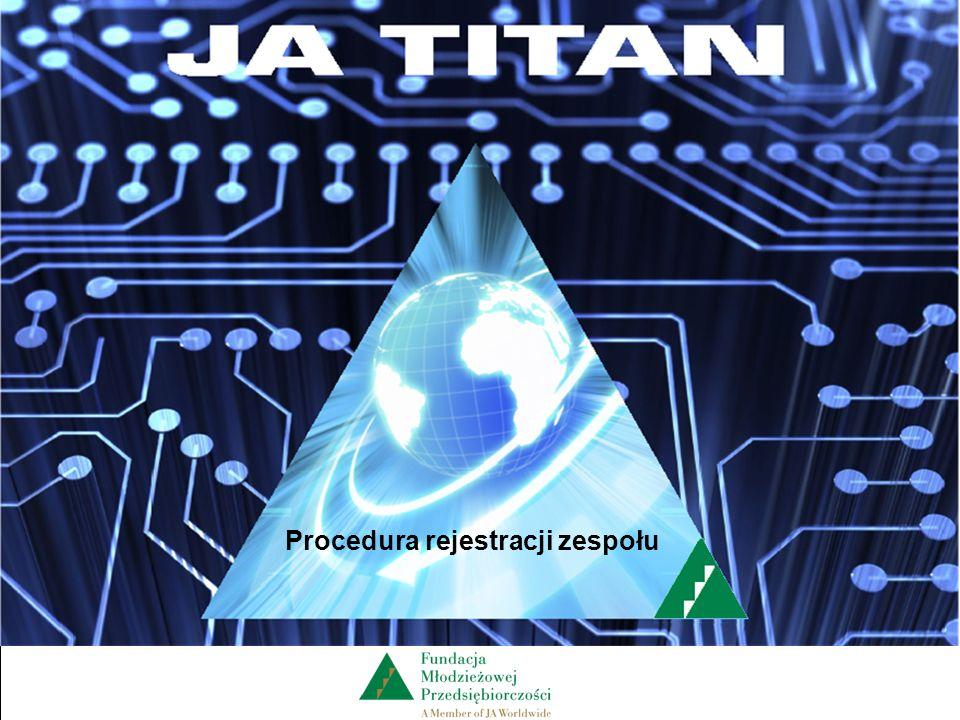 Z A R Z Ą D Z A N I E F I R M Ą Procedura rejestracji zespołu