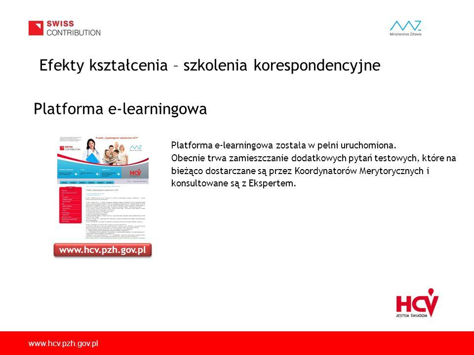 www.hcv.pzh.gov.pl Platforma e-learningowa została w pełni uruchomiona. Obecnie trwa zamieszczanie dodatkowych pytań testowych, które na bieżąco dosta
