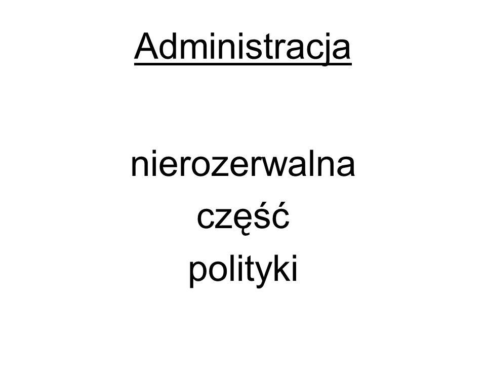 Administracja nierozerwalna część polityki