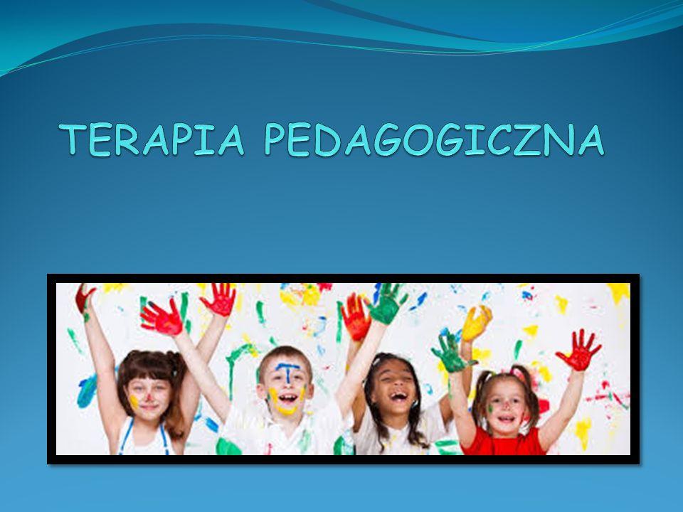 Terapia pedagogiczna Specjalistyczne działanie mające na celu usunięcie przyczyn i objawów trudności w uczeniu się, a w konsekwencji oddziaływań terapeutycznych – eliminowanie niepowodzeń szkolnych.