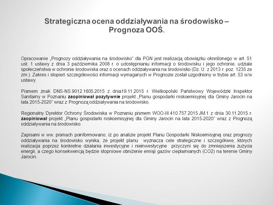 """Opracowanie """"Prognozy oddziaływania na środowisko"""" dla PGN jest realizacją obowiązku określonego w art. 51 ust. 1 ustawy z dnia 3 października 2008 r."""