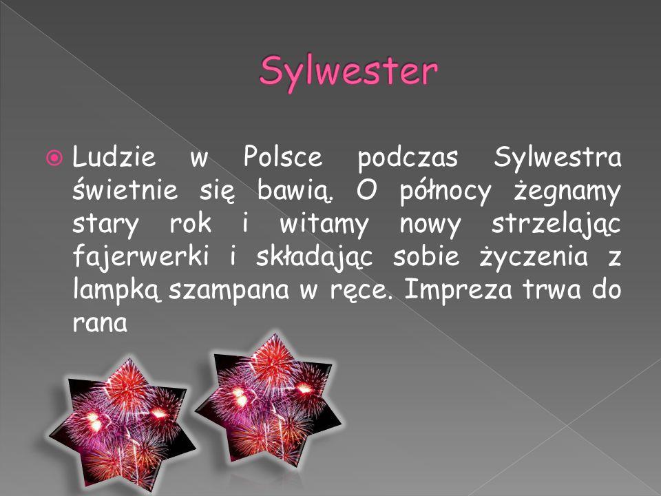  Ludzie w Polsce podczas Sylwestra świetnie się bawią. O północy żegnamy stary rok i witamy nowy strzelając fajerwerki i składając sobie życzenia z l
