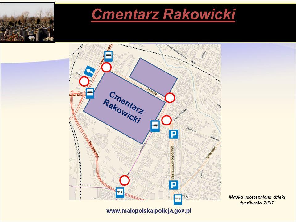 Cmentarz Rakowicki Mapka udostępniona dzięki życzliwości ZIKiT Cmentarz Rakowicki stąpią