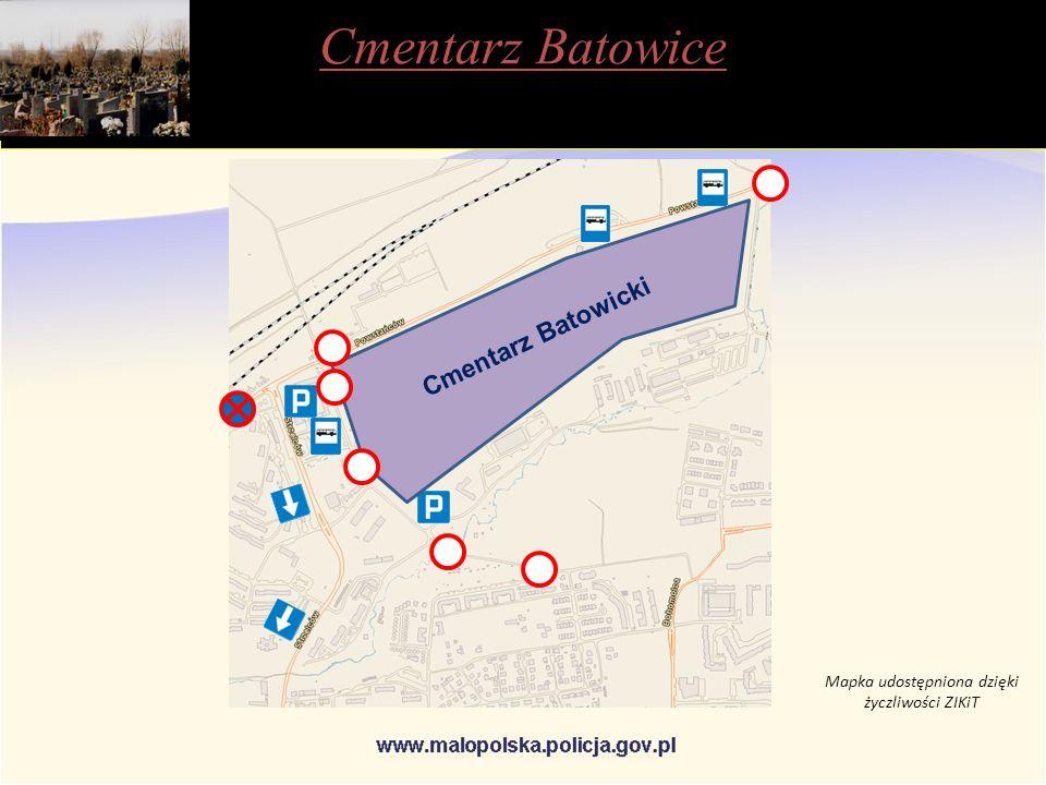 Cmentarz Batowicki Cmentarz Batowice Mapka udostępniona dzięki życzliwości ZIKiT